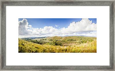 Western Tasmania Panorama Framed Print by Jorgo Photography - Wall Art Gallery