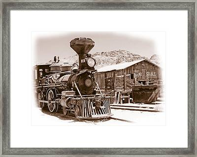 Western Train Framed Print by Richard Allen