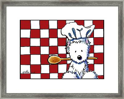 Westie Chef Framed Print by Kim Niles