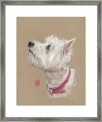 Westie Profile Framed Print by Debra Jones