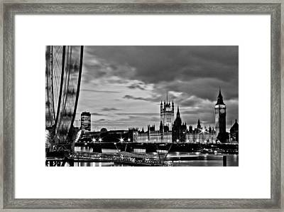 Westminster Black And White Framed Print by Dawn OConnor