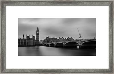 Westminster Bridge London Framed Print by Martin Newman