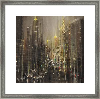 Wet Day Framed Print by Tom Shropshire