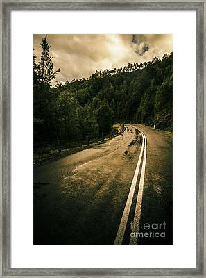 Wet Highland Road Framed Print by Jorgo Photography - Wall Art Gallery