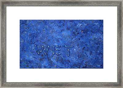 WET Framed Print by James W Johnson