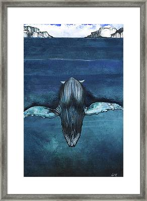 Whale IIi Framed Print by Anthony Burks Sr