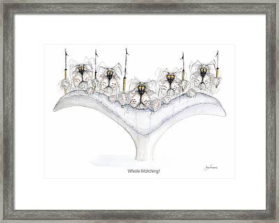 Whale Watching Framed Print by John Faulkner