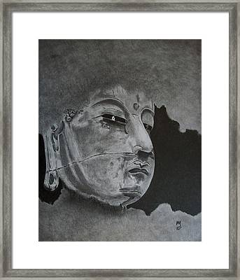 What Is Your Original Face Framed Print by Nick Young