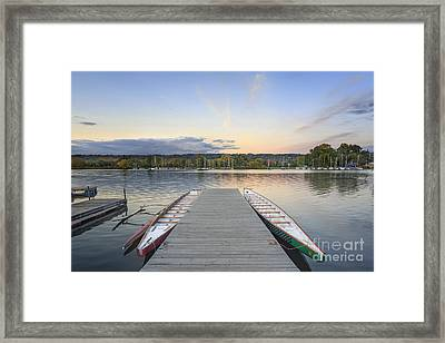 What Remains Of The Day Framed Print by Evelina Kremsdorf