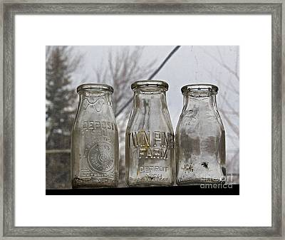 What The Milk Man Left Framed Print by Sandra Church
