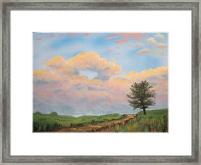 What The Tree Gets To See Framed Print by Kenneth McGarity