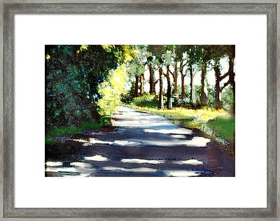What Waits For Us Down The Road Framed Print by David Zimmerman