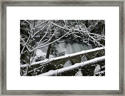 Whatcom Falls Winter 08 Framed Print by Craig Perry-Ollila