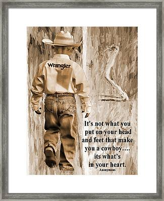 Whats In Your Heart Framed Print by Shannon Story