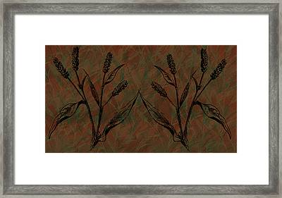 Wheat Field Framed Print by Evelyn Patrick