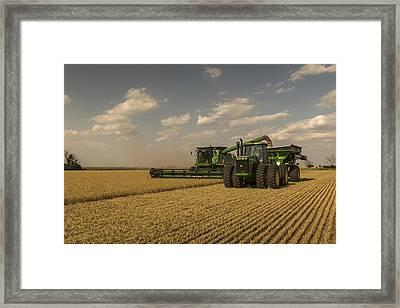 Wheat Harvest Jd Framed Print by Chris Harris