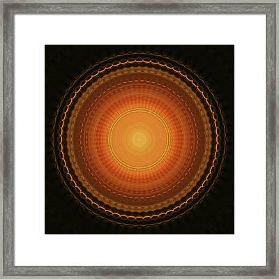 Wheel Kaleidoscope Framed Print by Wim Lanclus