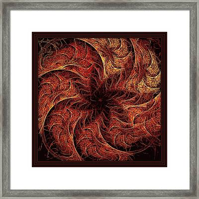 Wheel Of Conflict Framed Print by Doug Morgan