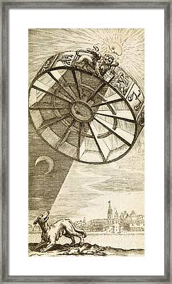 Wheel Of Fortune Descending, 1657 Framed Print by Wellcome Images