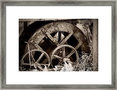 Wheels Of Time Framed Print by Gabriela Insuratelu