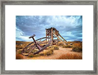 Wheels Of Time Framed Print by Lynn Bauer