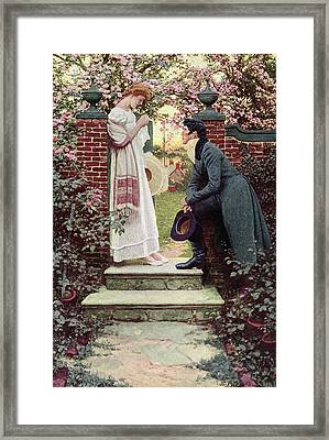 When All The World Seemed Young Framed Print by Howard Pyle