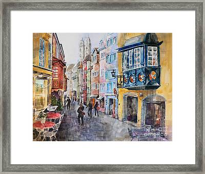 When In Zurich Framed Print by Catalina Rankin