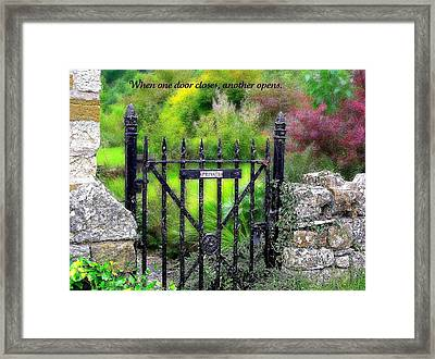 When One Door Closes Framed Print by Jen White
