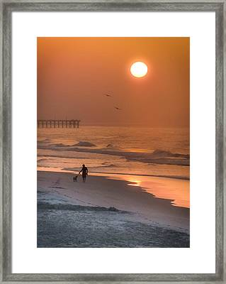 When Salt Is Sweet Framed Print by Karen Wiles