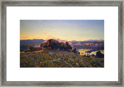 When The Land Belonged To God Framed Print by Charles Russell