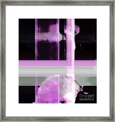 When The Light Goes Purple  Framed Print by Fania Simon