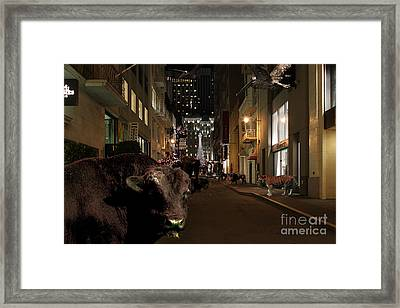 When The Lights Go Down In The City Framed Print by Wingsdomain Art and Photography