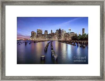 When The Lights Go On Framed Print by Evelina Kremsdorf