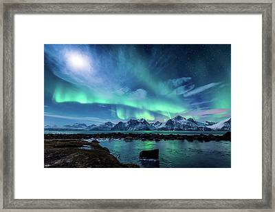 When The Moon Shines Framed Print by Tor-Ivar Naess