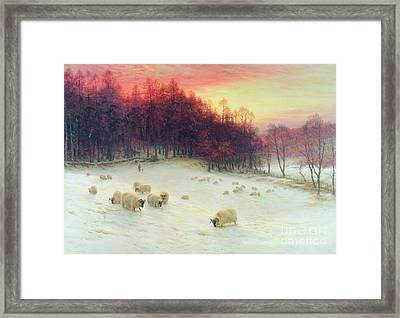 When The West With Evening Glows Framed Print by Joseph Farquharson