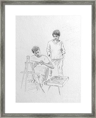 When They Were Young Framed Print by Barbara Chase