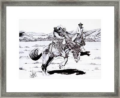 When Things Get Rocky Framed Print by Cheryl Poland