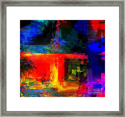 When Water Will Not Stop Framed Print by Fania Simon