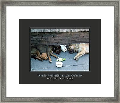 When We Help Each Other Framed Print by Donna Corless