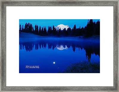 When We See Clearly Framed Print by Jeff Swan