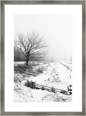 When Winter Comes Framed Print by Cathy  Beharriell