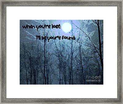When Your'e Lost Framed Print by Irma BACKELANT GALLERIES
