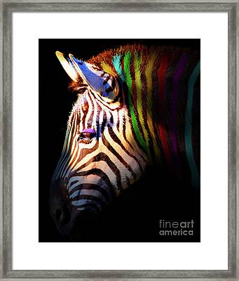 When Zebras Dream 7d8908 Vertical Framed Print by Wingsdomain Art and Photography