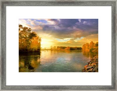 Where All The Rivers Run Wild Framed Print by Georgiana Romanovna