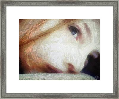 Where Are Your Thoughts Framed Print by Gun Legler