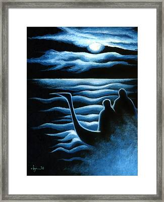 Where Did We Come From And Where Are We Going Framed Print by Angela Treat Lyon