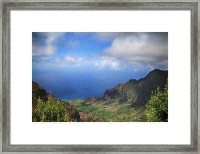 Where Land Meets Sea Framed Print by Laurie Search