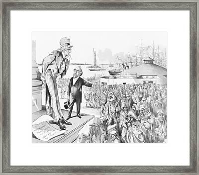 Where The Blame Lies Framed Print by Grant E Hamilton