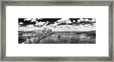 Where The Bridges Cross Framed Print by Tim Wilson