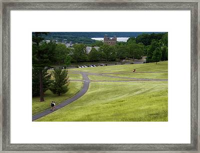 Where The Paths Cross Cornell University Ithaca New York Framed Print by Thomas Woolworth
